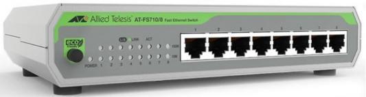 Коммутатор Allied Telesis AT-FS710/8-50 8x100Mb неуправляемый цена