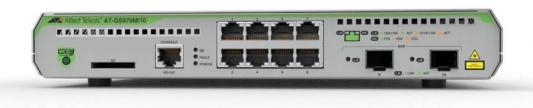 Коммутатор Allied Telesis AT-GS970M/10-50 8G 2SFP управляемый коммутатор allied telesis at gs924m 50 20g управляемый