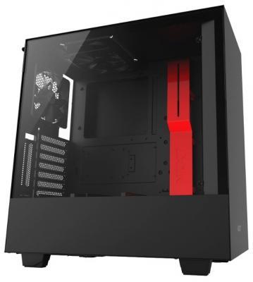 Корпус ATX NZXT H500i Без БП красный чёрный (CA-H500W-BR)