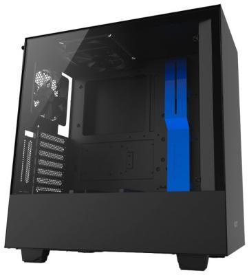 Корпус ATX NZXT H500i Без БП чёрный синий (CA-H500W-BL)