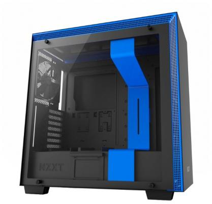Корпус ATX NZXT H700 Без БП синий чёрный (CA-H700B-BL)