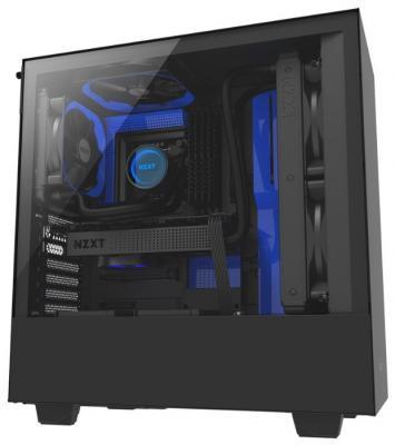 Корпус ATX NZXT H500 Без БП синий чёрный (CA-H500B-BL)