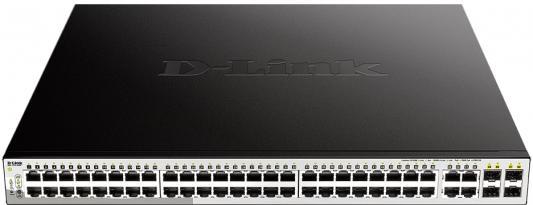 Коммутатор D-Link DGS-1210-52MP/F1A 48G 48PoE 370W настраиваемый