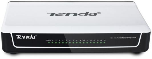Коммутатор Tenda S16 16x100Mb неуправляемый tenda