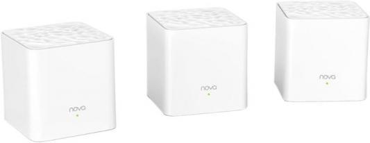 Точка доступа Tenda MW3-3 802.11abgnac 867Mbps 2.4 ГГц 5 ГГц 2xLAN белый wifi роутер tenda nova mw3 3