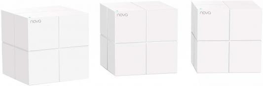 Точка доступа Tenda Nova MW6-3 802.11abgnac 867Mbps 2.4 ГГц 5 ГГц 2xLAN белый усилитель сигнала tenda nova mw6 1 ac1200 домашняя mesh wifi система с 2мя гигабитными портами поддерживает работу в двух диапазонах 2 4 ггц и 5 гг