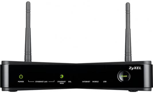 Маршрутизатор беспроводной Zyxel SBG3300-N000 (SBG3300-N000-EU02V1F) N300 10/100/1000BASE-TX/ADSL черный цена