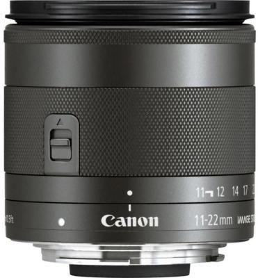 Объектив Canon EF-M IS STM (7568B005) 11-22мм f/4-5.6 черный объектив canon ef s 55 250mm f 4 5 6 is stm