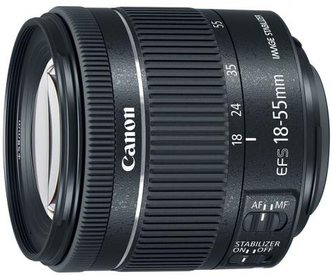 Объектив Canon EF-S IS STM (1620C005) 18-55мм f/4-5.6 черный цена и фото