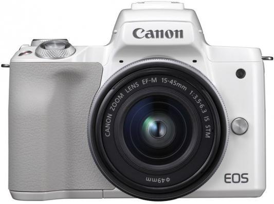 "лучшая цена Фотоаппарат Canon EOS M50 белый 24.1Mpix 3"" 4K WiFi 15-45 IS STM LP-E12"