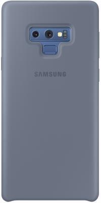 Чехол (клип-кейс) Samsung для Samsung Galaxy Note 9 Silicone Cover синий (EF-PN960TLEGRU) клип кейс samsung silicone cover для galaxy s8 зеленый