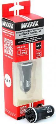 Фото - Автомобильное зарядное устройство Wiiix UCC-2-20 2 х USB 2.4А черный автомобильное зарядное устройство orico ucl 2u bk 2 х usb 1 2 4 а черный