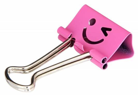 Картинка для Зажимы Deli 8487 smile 19мм ассорти (упак.:40шт) пластиковая туба