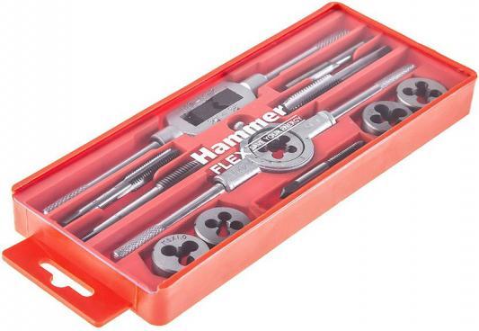 Набор метчиков и плашек Hammer Flex 601-039 12 шт набор метчиков и плашек skrab 33859