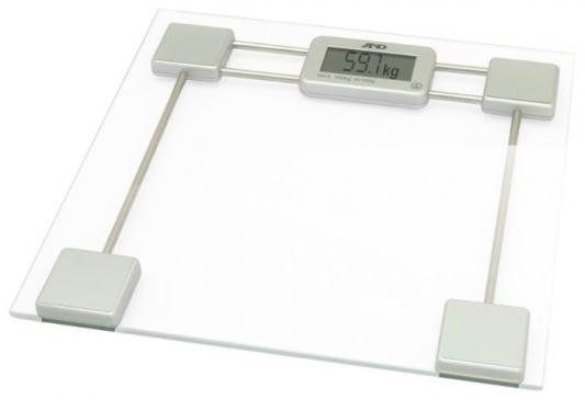 Весы напольные электронные A&D UC-200 макс.200кг прозрачный/белый