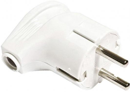 Вилка TDM SQ1806-0007 угловая с/з белая 16А 250В цена и фото