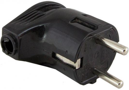 Вилка TDM SQ1806-0008 угловая с/з черная 16А 250В
