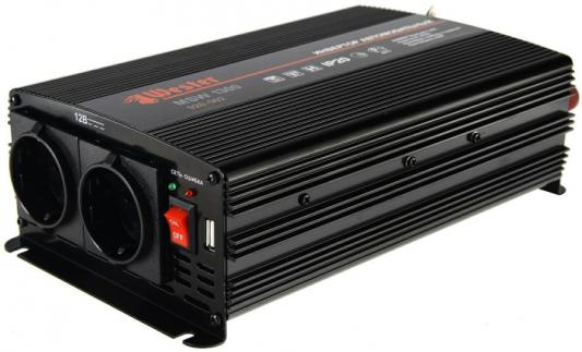 Преобразователь инверторный а/м WESTER MSW1300  24-220В+USB, 1300Вт модифицированная синусоида