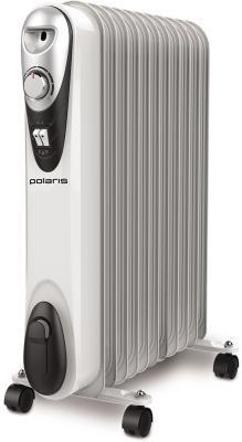 Масляный радиатор Polaris Compact CR C 1125 2500 Вт термостат Ручка для перемещения колеса для перемещения белый масляный радиатор vitek vt 1707 w 1000 вт термостат ручка для переноски колеса для перемещения белый