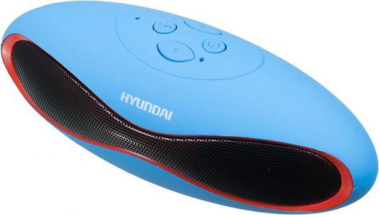Колонки Hyundai H-PAC120 1.0 синий 3Вт беспроводные BT беспроводные колонки к компьютеру