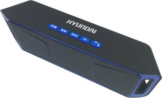 Колонки Hyundai H-PAC140 1.0 черный/синий 6Вт беспроводные BT колонки bbk bta6000 1 0 черный 60вт беспроводные bt