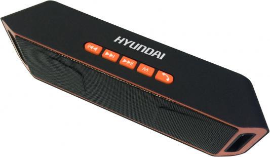 Колонки Hyundai H-PAC160 1.0 черный/оранжевый 6Вт беспроводные BT колонки bbk bta6000 1 0 черный 60вт беспроводные bt