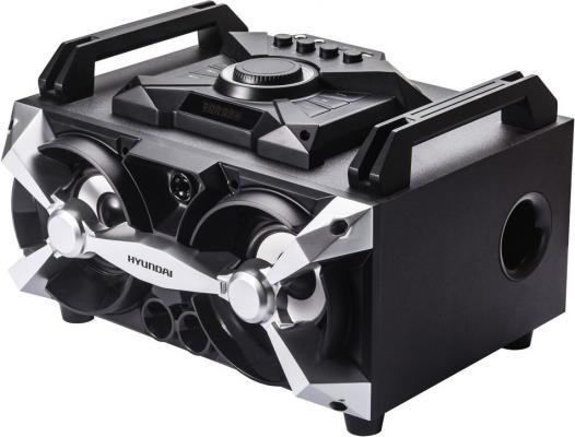Минисистема Hyundai H-MAC100 черный 60Вт/FM/USB/BT/SD/MMC минисистема hyundai h pcd100 black silver