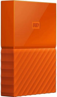 """Накопитель на жестком магнитном диске WD Внешний жёсткий диск WD My Passport WDBLHR0020BOR-EEUE (тонкий) 2TB 2,5"""" USB 3.0 Orange (D8B) жесткий диск wd original usb 3 0 2tb wdbnfv0020bbl eeue my passport ultra 5400 об мин 2 5 синий"""