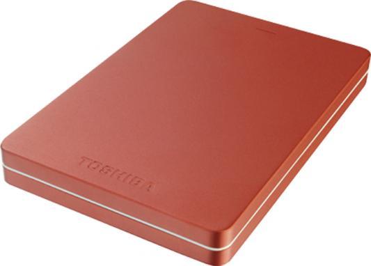 """Накопитель на жестком магнитном диске TOSHIBA Внешний жесткий диск TOSHIBA HDTH305ER3AB Canvio Alu 500ГБ 2.5"""" USB 3.0 красный toshiba canvio alu 500гб 2 5 usb 3 0 голубой"""