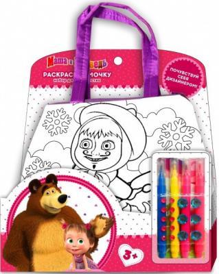 Набор для творчества MultiArt Маша и Медведь сумочка для росписи на блистере (русс. уп) в кор.2*96шт мелки для асфальта erichkrause artberry® 6 цветов
