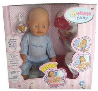 Купить Пупс WARM BABY ПУПС 8003-10 43 см писающая пьющая B1425489, пластик, текстиль, Интерактивные куклы