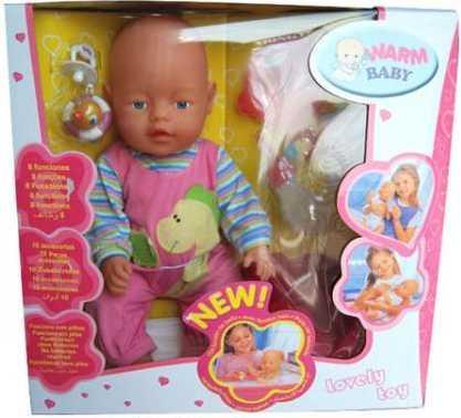 Купить Пупс WARM BABY ПУПС 43 см писающая пьющая B1230908, пластик, текстиль, Интерактивные куклы