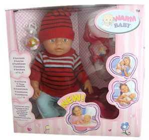 Пупс WARM BABY 8003/ 8003-G 43 см писающая пьющая B1425496 newborn baby boy girl infant warm cotton outfit jumpsuit romper bodysuit clothes