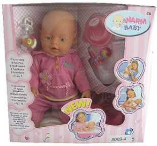 Пупс WARM BABY 8003/ 8003-4 43 см писающая пьющая B1425486 newborn baby boy girl infant warm cotton outfit jumpsuit romper bodysuit clothes