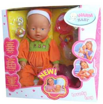 Купить Пупс WARM BABY ПУПС 43 см писающая пьющая B1406475, пластик, текстиль, Интерактивные куклы