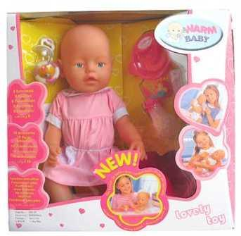 Пупс WARM BABY ПУПС 43 см писающая пьющая B1406471 newborn baby boy girl infant warm cotton outfit jumpsuit romper bodysuit clothes