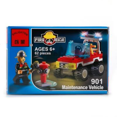 Конструктор ENLIGHTEN BRICK Пожарная машина 62 элемента BRICK901 конструктор enlighten brick trebuchet sqrad 152 элемента brick2304
