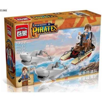 Конструктор ENLIGHTEN BRICK Пираты 45 элементов BRICK1302 (120) enlighten brick demon scooter 129 элементов brick2203