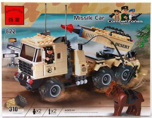 Конструктор ENLIGHTEN BRICK Ракетная установка 310 элементов BRICK822 enlighten brick demon scooter 129 элементов brick2203