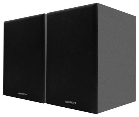Комплект акустики Hyundai H-HA100 2.0 15Вт черный (в комплекте: 2 колонки)
