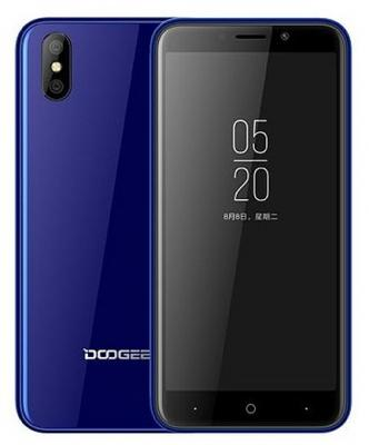Смартфон Doogee X50 8 Гб синий original view window leather case for doogee turbo mini f1