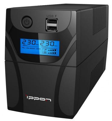 Источник бесперебойного питания Ippon Back Power Pro II 800 480Вт 800ВА черный источник бесперебойного питания ippon back power pro