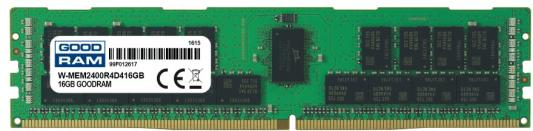 Оперативная память 16Gb (1x16Gb) PC4-19200 2400MHz DDR4 DIMM ECC Registered Goodram W-MEM2400R4D416G