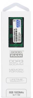 Оперативная память для ноутбука 8Gb (1x8Gb) PC3-12800 1600MHz DDR3 SO-DIMM Goodram W-AMM16008G цена и фото