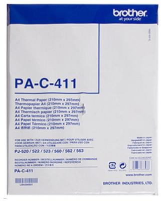 Бумага Brother Термобумага PA-C411 формата A4, 100 листов, 80 микрон, 73 гр/м2, для Brother PocketJet