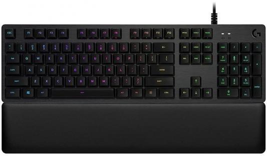 Клавиатура проводная Logitech G513 GX Blue Click USB черный 920-008933 цена и фото