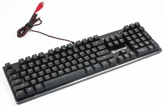 Клавиатура проводная A4TECH Bloody B820R Blue USB черный клавиатура проводная a4tech bloody b130 usb черный