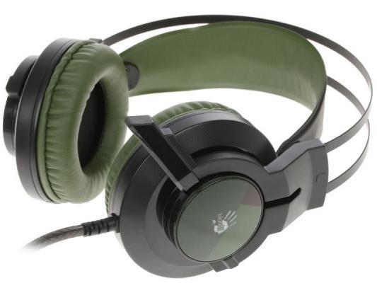 Игровая гарнитура проводная A4TECH A4Tech Bloody J450 черный зеленый игровая гарнитура проводная a4tech bloody m510 черный