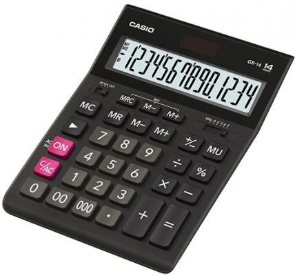Калькулятор настольный Casio GR-14T черный 14-разр. original laptop for hp for envy 14t 14t 1000 sim card reader board 6050a2316401