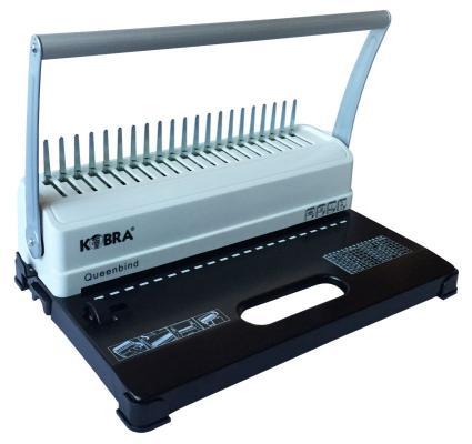 Переплетчик Kobra Queenbind H500 A4/перф.14л.сшив/макс.500л./пластик.пруж.-51мм) цена и фото
